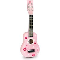 Vilac Kids Pink Guitar Musical Toy with Flowers