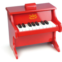 Vilac Kid's 18 Key Musical Instrument Toy Piano Red