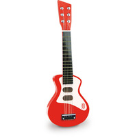 Vilac Kid's Rock & Roll Acoustic Guitar Red/White