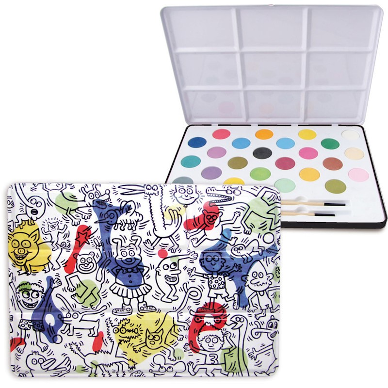 Vilac Keith Haring Kids Water Colour Painting Set