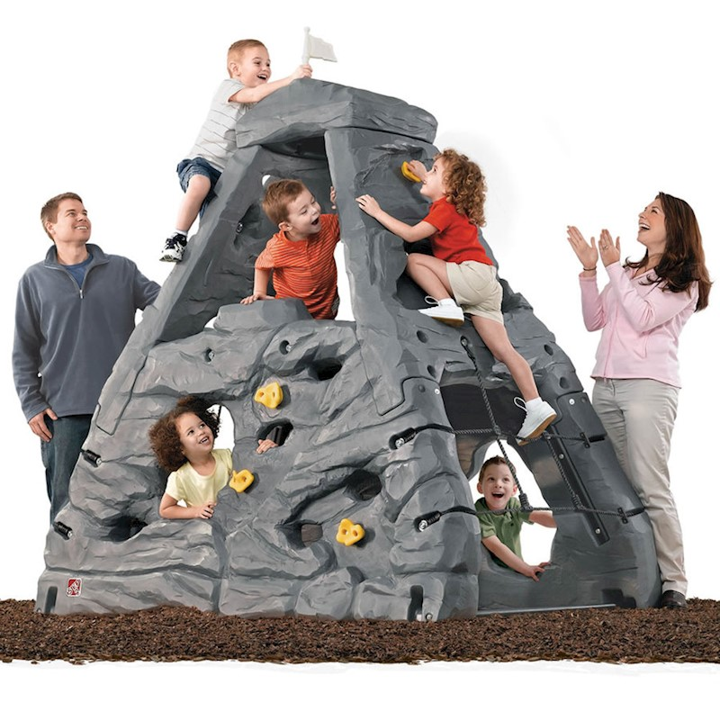 Kids Skyward Summit Grey Rock Climbing Play Set
