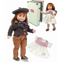 Petitcollin Kid's French Doll w/ Trunk & Outfits