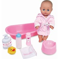 Petitcollin Calinet Baby Bath Time French Doll Set