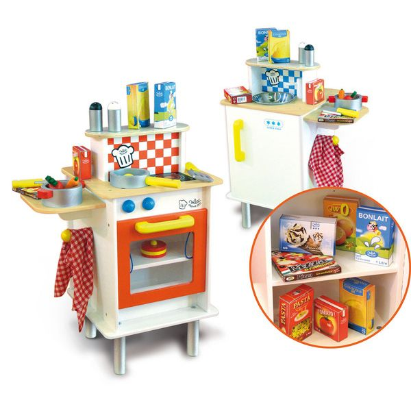 toy kitchen food accessories vilac sided play kitchen w accessories buy 6316