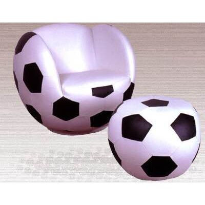 Delicieux Soccer Ball Shaped Sports Kidu0027s Chair With Ottoman