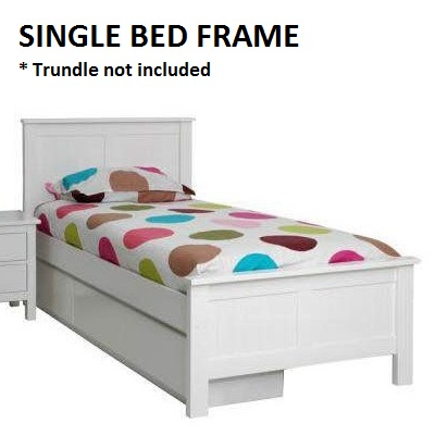 Lilydale Solid Timber Kids Single Bed Frame White