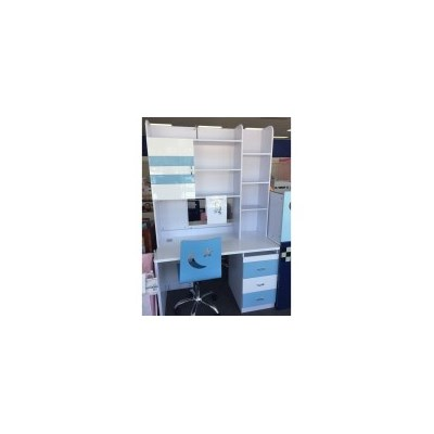 Kids MDF Wood Study Desk in Light Blue & White