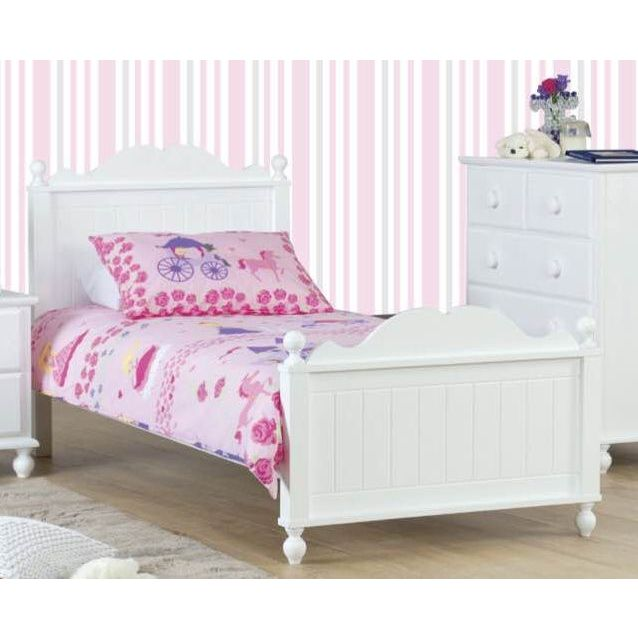Kids Princess Wooden Single Bed Frame In White Buy