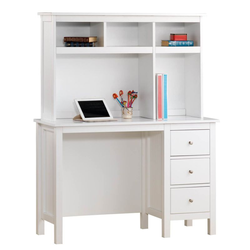Lilydale Study Desk W Hutch & Drawers In White