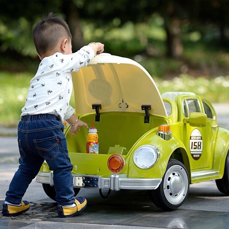 vw beetle electric kids ride on car in green 12v