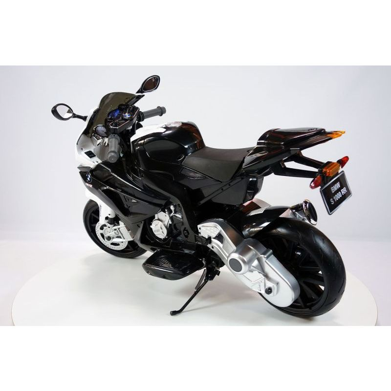 bmw kid 39 s ride on electric motorbike in black 12v buy. Black Bedroom Furniture Sets. Home Design Ideas