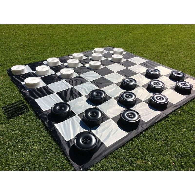Giant Size Outdoor Draughts Checkers Game Set 3x3m Buy