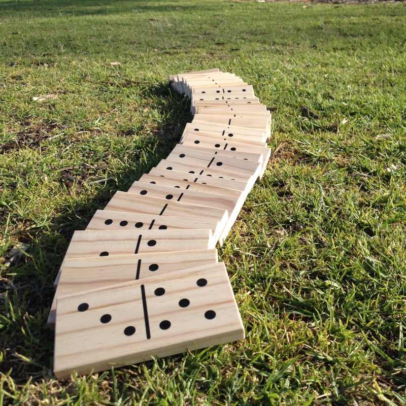 giant outdoor dominoes game set with 28 pieces 15cm buy. Black Bedroom Furniture Sets. Home Design Ideas