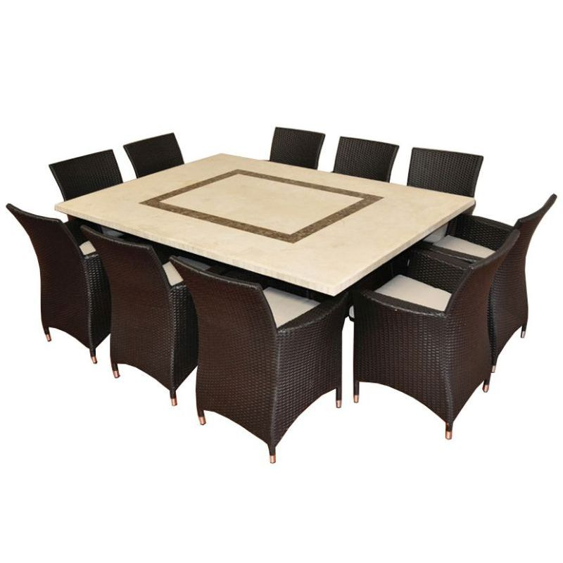 caesar stone outdoor 10 seat dining set in charcoal buy