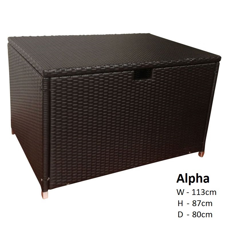 Alpha Large Outdoor Wicker Storage Box In Charcoal Buy Outdoor