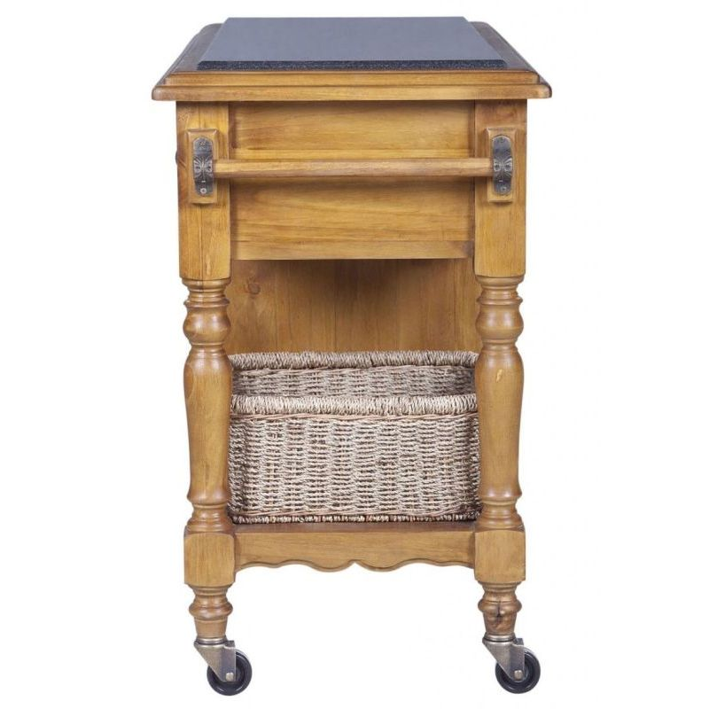 kitchen trolleys and islands hampton granite top kitchen island trolley in honey buy 20136