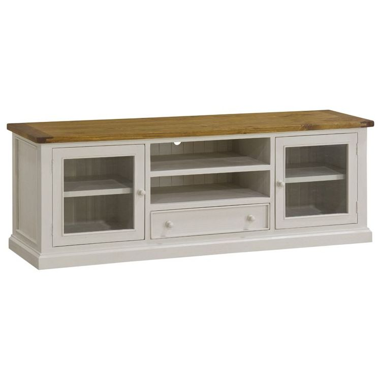 leura distressed tv stand unit white - Distressed Tv Stand