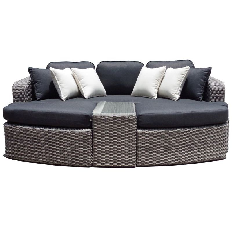 noosa outdoor day bed sofa lounge in denim grey buy outdoor lounge settings. Black Bedroom Furniture Sets. Home Design Ideas