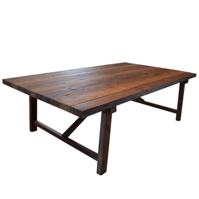 Farmhouse Rustic Recycled Timber Dining Table 2 5m Buy