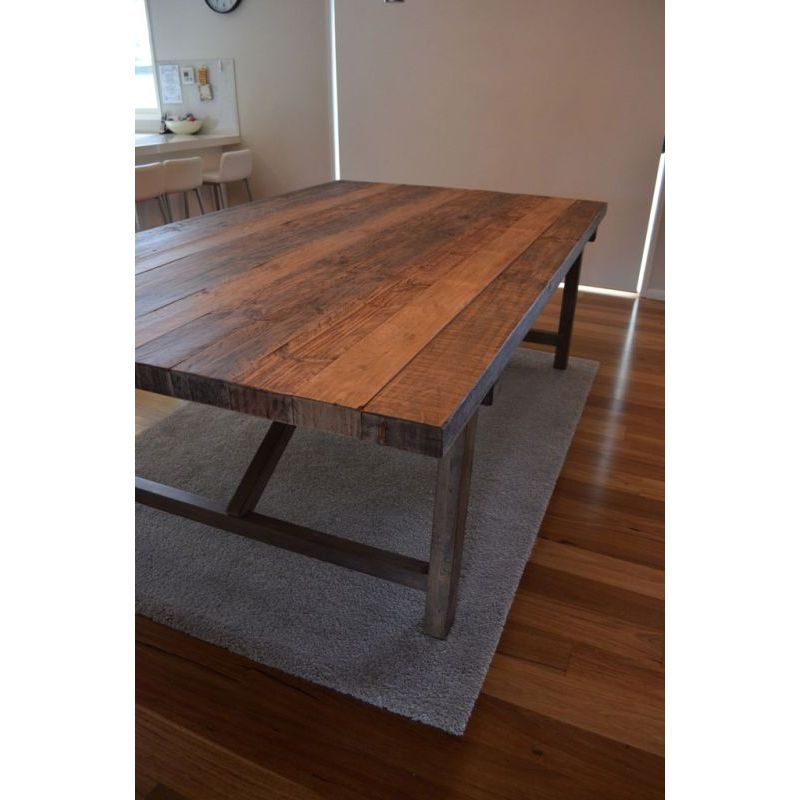 Where To Buy Dining Tables: Farmhouse Rustic Recycled Timber Dining Table 2.5m