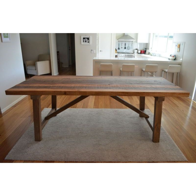 Where To Buy Dining Tables: Farmhouse Rustic Recycled Timber Dining Table 2.36m
