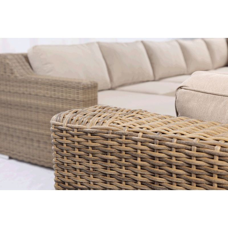 Milano Outdoor 6 Seat Wicker Lounge Set In Sand. H M S Remaining