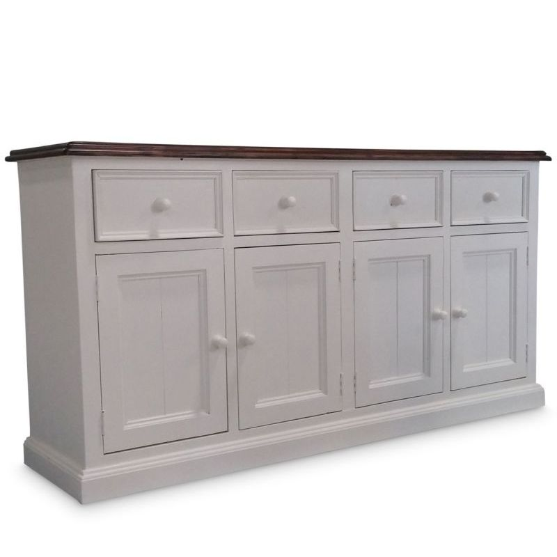 White Sideboards And Buffets: Bordeaux Sideboard Buffet In Brushed White Timber
