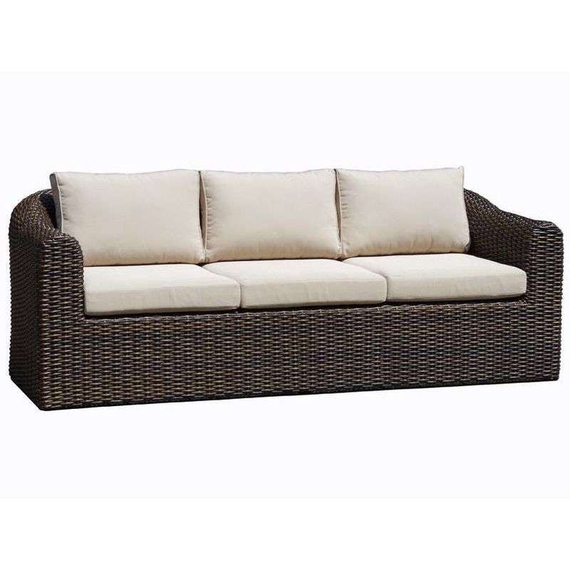 subiaco outdoor 3 seat wicker lounge sofa brown buy outdoor sofas 178986. Black Bedroom Furniture Sets. Home Design Ideas