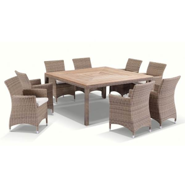 Sahara Outdoor Square 8 Seat Dining Set In Wheat Buy 8