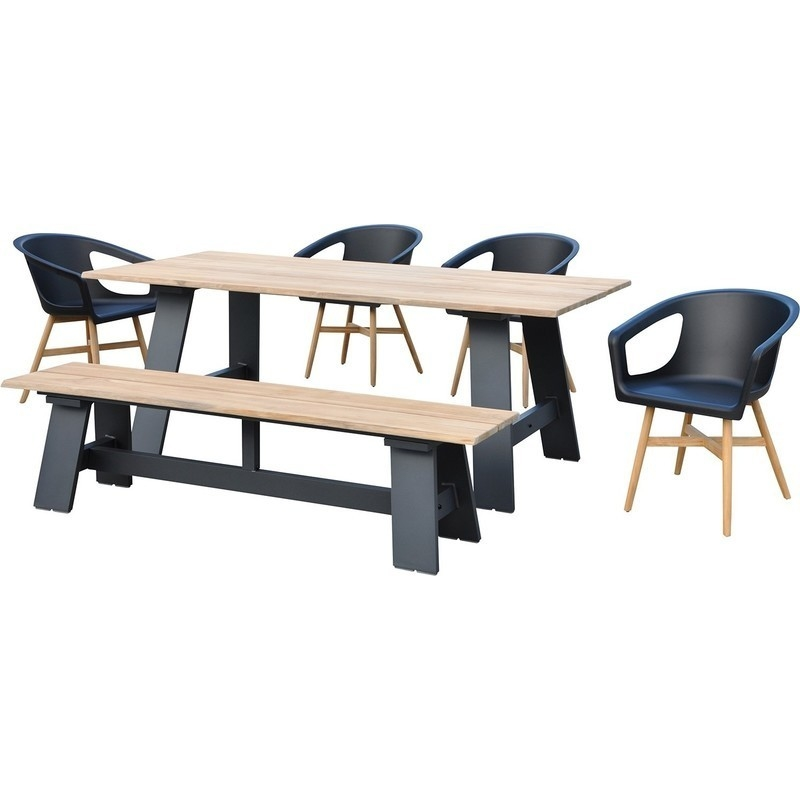 Brooklyn Outdoor Dining Table With Bench Amp 4 Chairs Buy