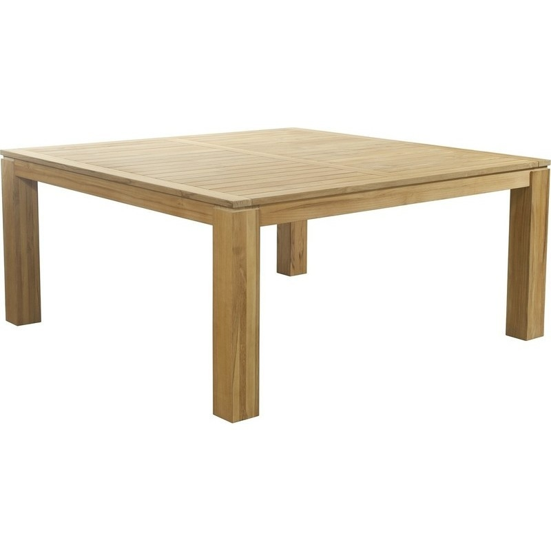 Entertainer Square Teak Timber Dining Table 1 7m Buy Outdoor