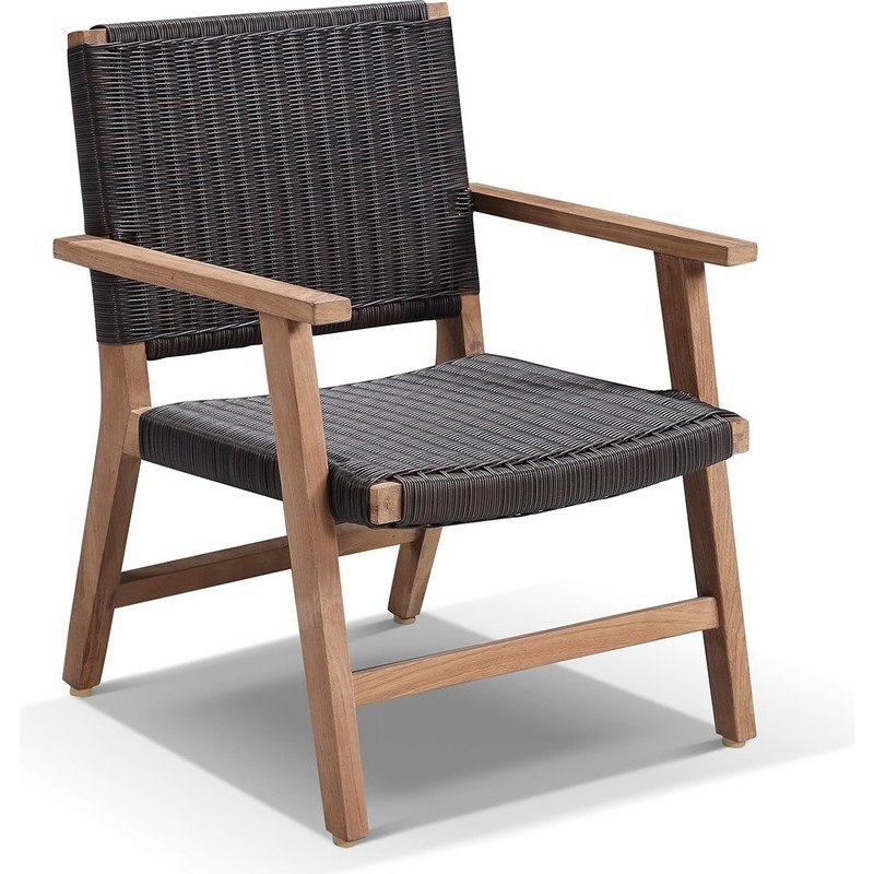 Beau Hamilton Timber U0026 PE Wicker Outdoor Dining Chair