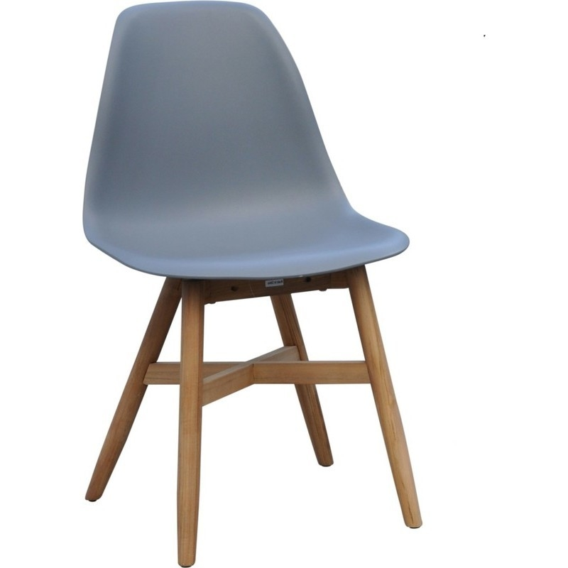 replica eames plastic timber dining chair in grey buy outdoor dining chairs. Black Bedroom Furniture Sets. Home Design Ideas