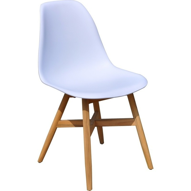 Replica eames plastic timber dining chair white buy for White plastic dining chair