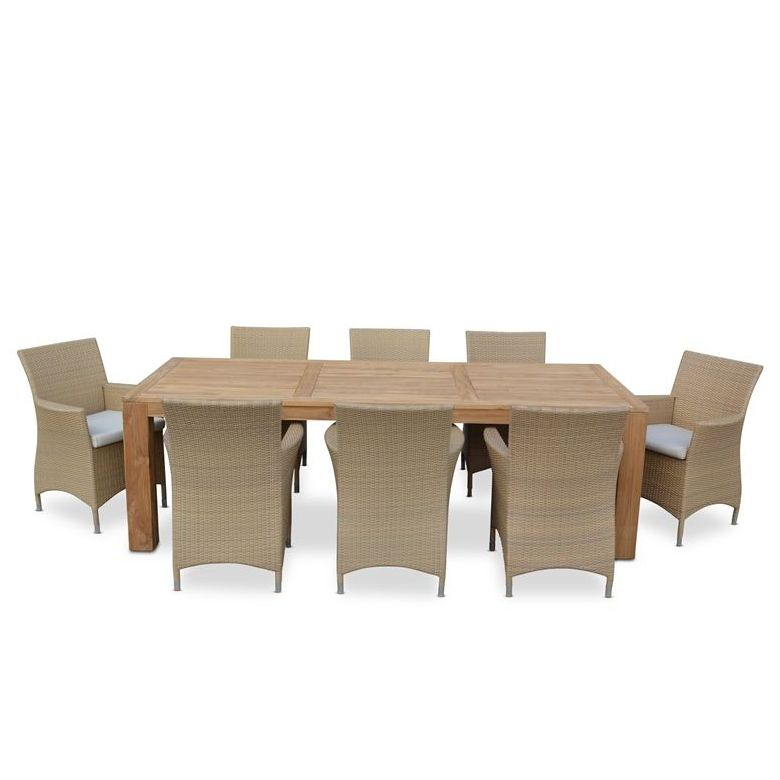 Entertainer Outdoor Dining Table W 8 Roman Chairs Buy 8