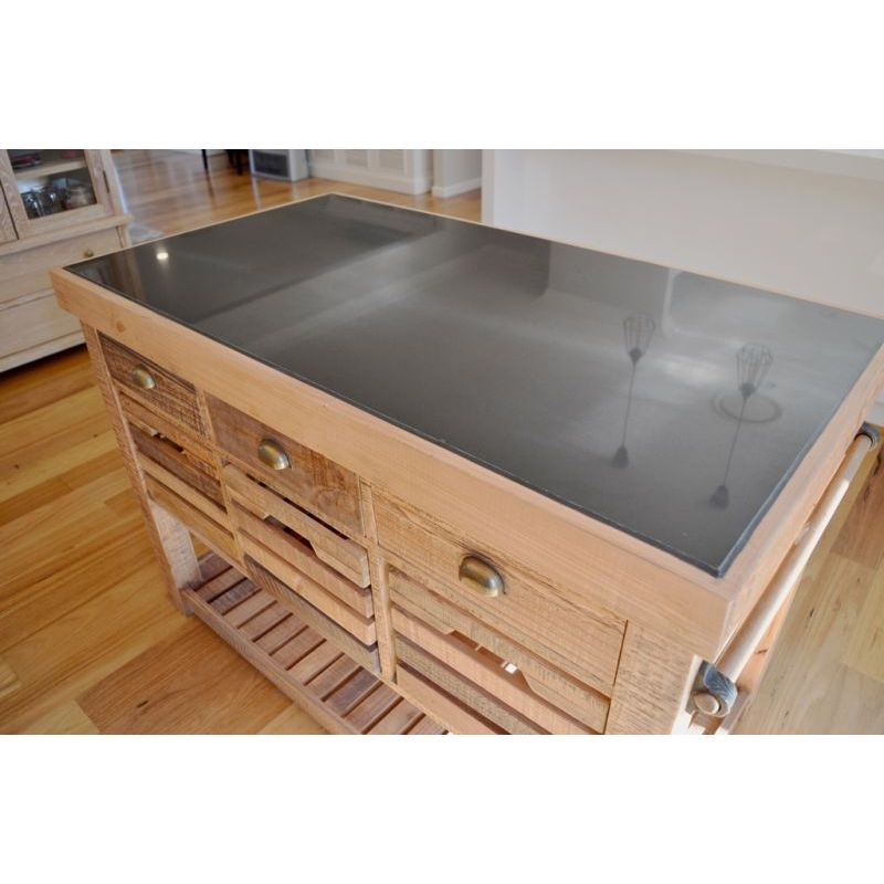 Recycled timber portable kitchen island w 6 drawer buy for Kitchen island with drawers and seating