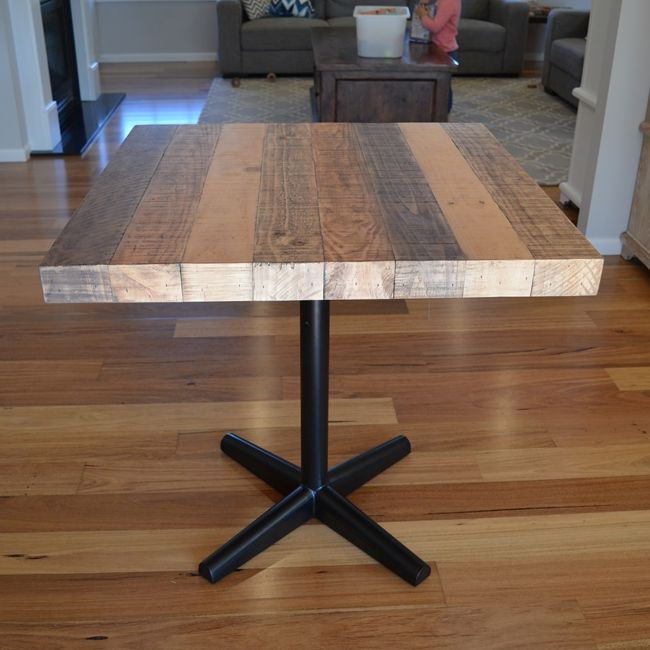 Industrial Recycled Timber Square Dining Table 0 8m Buy