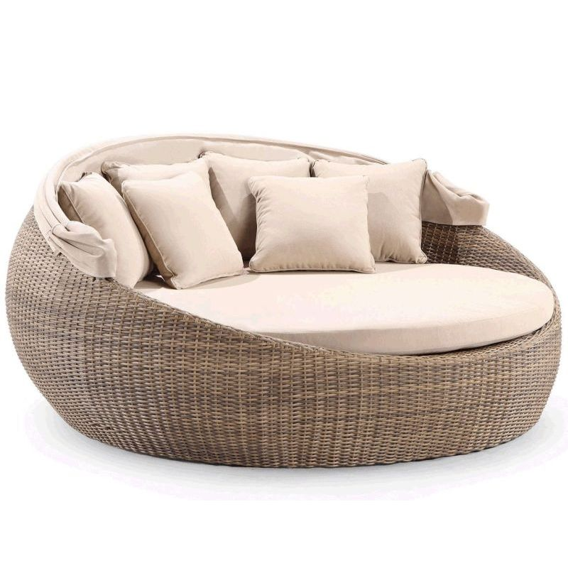 Newport Large Round Outdoor Day Bed W Canopy Wheat Buy