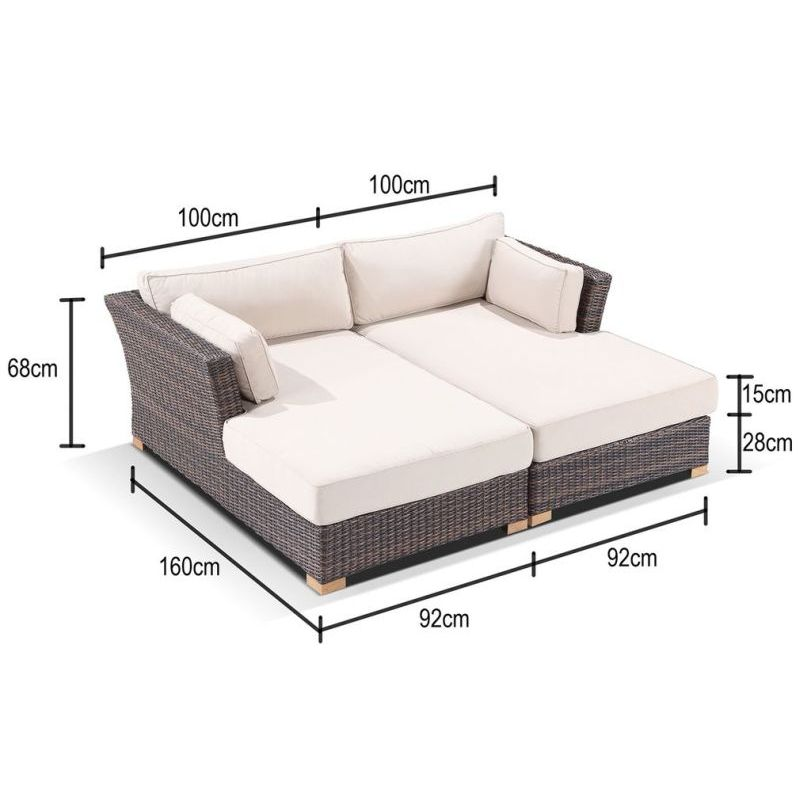 Coco Outdoor Wicker Day Bed Sofa Lounge Set Brown Buy Outdoor Day