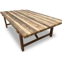Farmhouse Rustic Recycled Timber Dining Table 2.5m