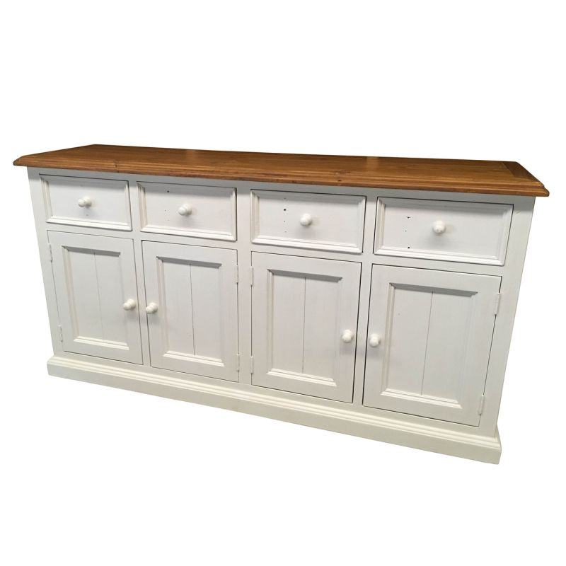 Bordeaux Timber Sideboard Buffet Distressed White