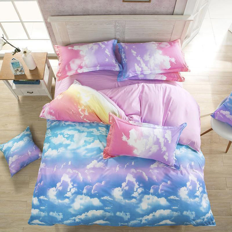 clouds king size duvet quilt cover set buy king quilt cover