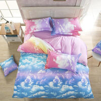 Clouds Super King Size Doona Duvet Quilt Cover Set