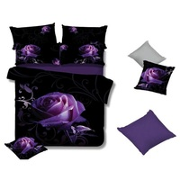 Rose King Size Polyester Fabric Quilt Cover Set