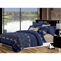 Ascott Super King Polyester Fabric Quilt Cover Set
