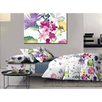 Queen Size Polyester Fabric Quilt Cover Set Bloom