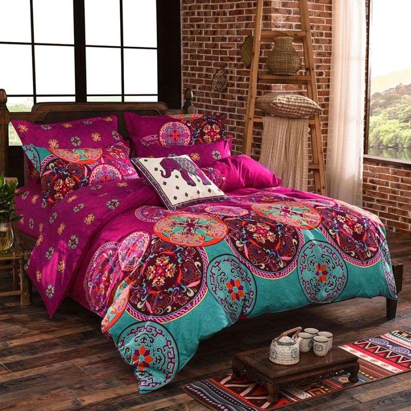 Medit queen size polyester fabric quilt cover set buy for Housse sofa walmart