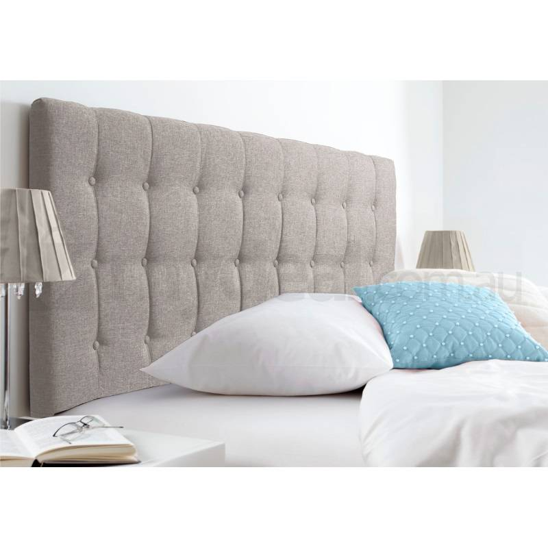 Maddison King Fabric Upholstered Headboard In Beige