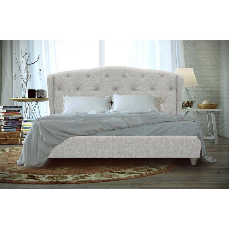 French Provincial Wing Collection Fabric Upholstered Bed Frame Buy
