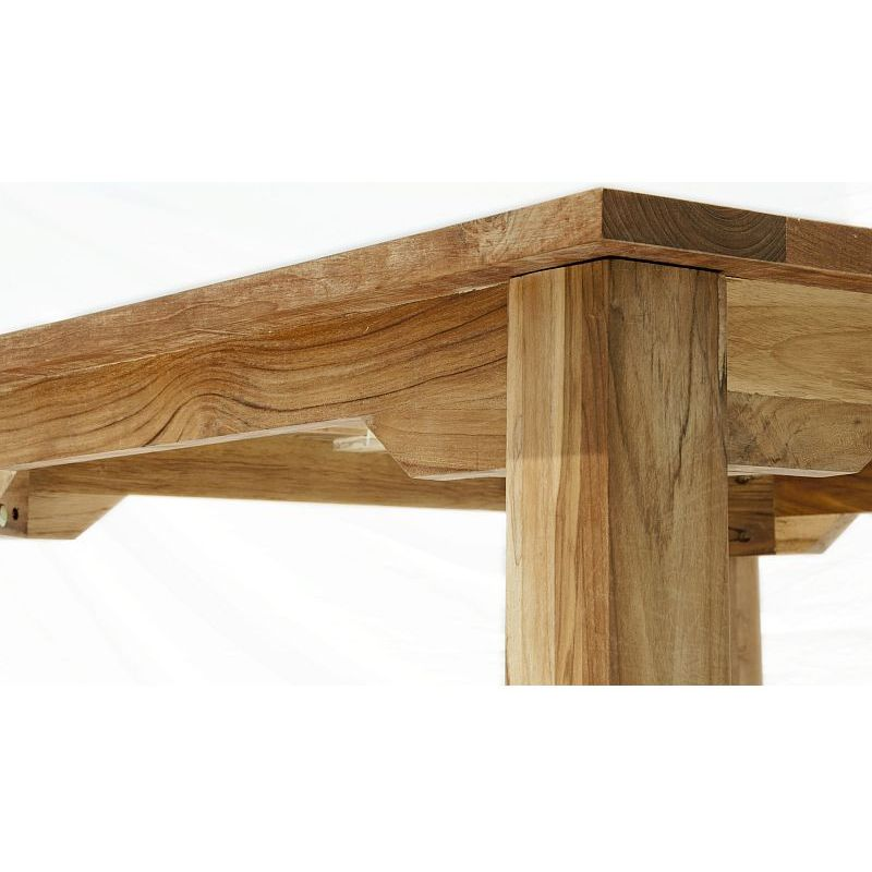 Rustic Farmhouse Teak Wooden Dining Table 1 8m Buy